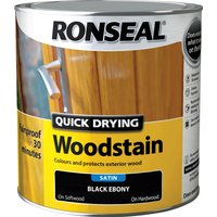 Ronseal Quick Dry Satin Woodstain Ebony 2.5l