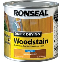 Ronseal Quick Dry Satin Woodstain Natural Pine 250ml