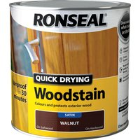 Ronseal Quick Dry Satin Woodstain Teak 750ml