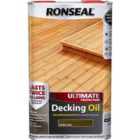 Ronseal Ultimate Protection Decking Stain Dark Oak 5l