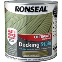 Ronseal Ultimate Protection Decking Stain Mountain Green 2.5l