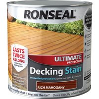 Ronseal Ultimate Protection Decking Stain Rich Mahogany 2.5l