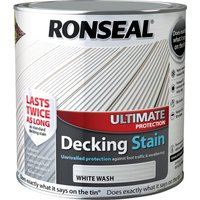 Ronseal Ultimate Protection Decking Stain White Wash 2.5l