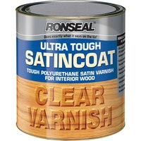 Ronseal Ultra Tough Internal Clear Satincoat Varnish 250ml
