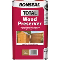 Ronseal Total Wood Preserver Light Brown 5l