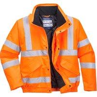 Oxford Weave 300D Class 3 GO/RT Hi Vis Bomber Jacket Orange 3XL