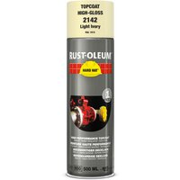 Rust Oleum Hard Hat Metal Spray Paint Clear Ivory 500ml