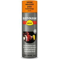 Rust Oleum Hard Hat Metal Spray Paint Pastel Orange 500ml