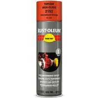 Rust Oleum Hard Hat Metal Spray Paint International Orange 500ml
