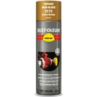 Rust Oleum Hard Hat Metal Spray Paint Ochre Brown 500ml