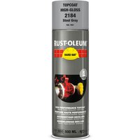 Rust Oleum Hard Hat Metal Spray Paint Steel Grey 500ml
