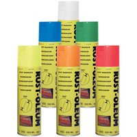 Rust Oleum Hard Hat Line Marking Spray Paint Traffic White 750ml