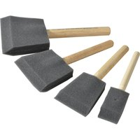 Rustins 4 Piece Foam Brush Set