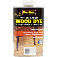 Rustins Quick Dry Wood Dye White 250ml