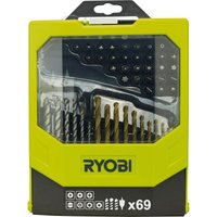 Ryobi 69 Piece Drill & Screwdriver Bit Set
