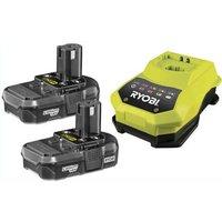 Ryobi RBC18LL13 ONE+ 18v Cordless Battery Charger & 2 Li-ion Batteries 1.3ah 240v