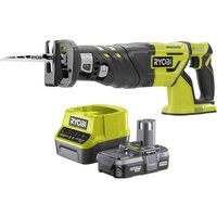 Ryobi R18RS7 ONE  18v Cordless Brushless Reciprocating Saw 1 x 2ah Li ion Charger No Case