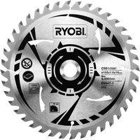Ryobi Cordless Wood Cutting Saw Blade 165mm 40T 16mm