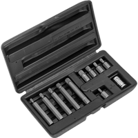 Siegen 11 Piece Spline Bit and Holder Set