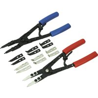 Siegen Internal / External Circlip Plier Set with Interchangeable Tips
