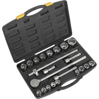 Siegen 22 Piece 3/4 Drive Bi Hexagon Socket Set Metric 3/4