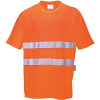 Hi Viz Mens Class 2 Cotton Comfort T Shirt Orange XL