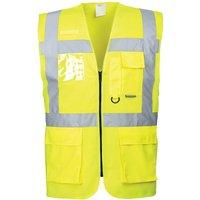 Portwest Berlin Zip Front Class 2 Hi Vis Waistcoat Yellow S