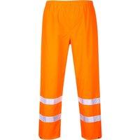 Oxford Weave 300D Class 1 Hi Vis Trousers Orange 2XL 32
