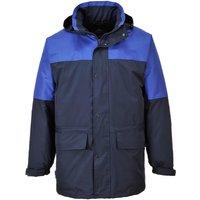Portwest Mens Oban Fleece Lined Waterproof Jacket Navy / Royal Blue 2XL