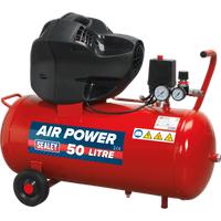 Sealey SAC05030F V Twin Belt Drive Compressor 50 Litre 240v