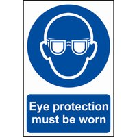 Scan Eye Protection Must Be Worn Sign 200mm 300mm Standard