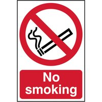 Scan PVC Self Adhesive No Smoking Warning Sign 200mm 300mm Standard