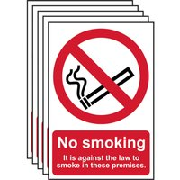 Scan No Smoking It Is Against The Law To Smoke On These Premises Sign 200mm 300mm Standard