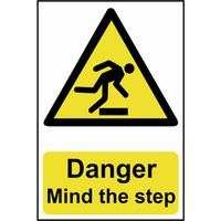 Scan Danger Mind The Step Sign 200mm 300mm Standard