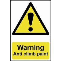 Scan Warning Anti Climb Paint Sign 200mm 300mm Standard