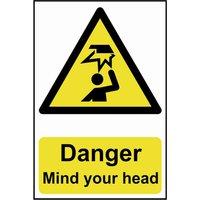 Scan Danger Mind Your Head Sign 200mm 300mm Standard