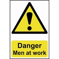 Scan Danger Men At Work Sign 200mm 300mm Standard