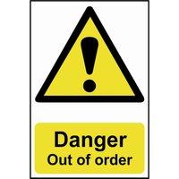 Scan Danger Out Of Order Sign 200mm 300mm Standard