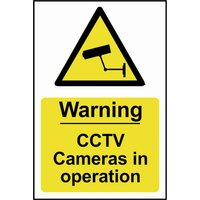 Scan Warning CCTV Cameras In Operation Sign 200mm 300mm Standard