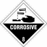 Scan Corrosive 8 Sign 100mm 100mm Standard