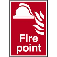 Scan Fire Point Sign 200mm 300mm Standard
