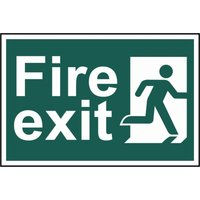 Scan Fire Exit Running Man Sign 300mm 200mm Standard