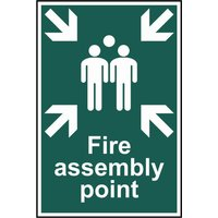 Scan Fire Assembly Point Sign 200mm 300mm Standard