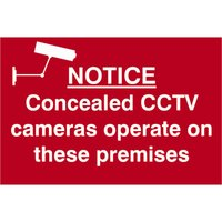 Scan Notice Concealed CCTV Cameras Operate On These Premises Sign 300mm 200mm Standard