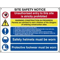 Scan Composite Site Safety Notice 800mm 600mm Standard