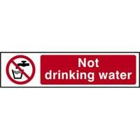 Scan Not Drinking Water Sign 200mm 50mm Standard