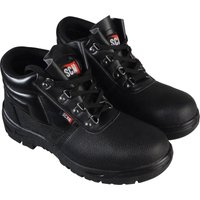 Scan Mens Dual Density Chukka Safety Boots Black Size 7