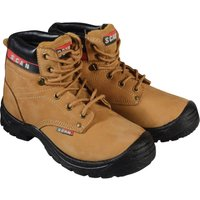 Scan Mens Cougar Safety Boots Honey Size 8