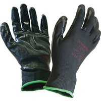 Scan Inspection Gloves Black Pack of 12 L