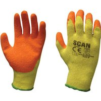 Scan Knit Shell Latex Palm Gloves One Size